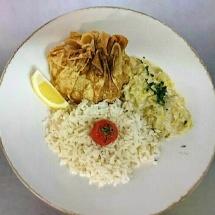 Aumoniére de poisson et fondue de poireaux