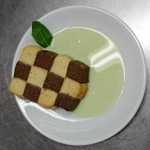 Duo de Sablé sauce menthe